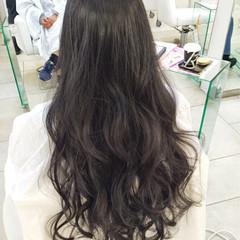 ロング グレージュ 外国人風 アッシュ ヘアスタイルや髪型の写真・画像
