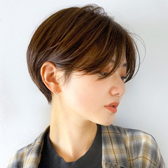 ハンサムショート ショートヘア ショートボブ ショート ヘアスタイルや髪型の写真・画像