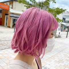 グラデーションカラー 派手髪 ダブルカラー ガーリー ヘアスタイルや髪型の写真・画像