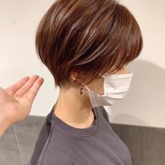 マッシュショート ハンサムショート ショート フェミニン ヘアスタイルや髪型の写真・画像