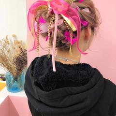 ミディアム 謝恩会 結婚式 ヘアアレンジ ヘアスタイルや髪型の写真・画像