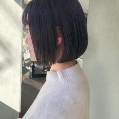 イルミナカラー 暗髪バイオレット ナチュラル 暗髪女子 ヘアスタイルや髪型の写真・画像