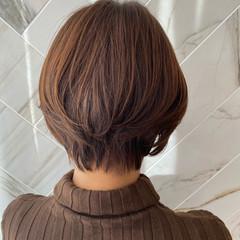 イルミナカラー ショート ショートボブ ショートヘア ヘアスタイルや髪型の写真・画像