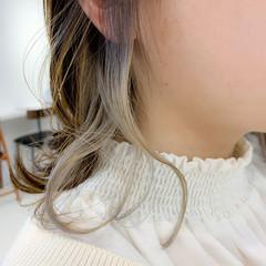 透明感 外ハネ ボブ アンニュイほつれヘア ヘアスタイルや髪型の写真・画像
