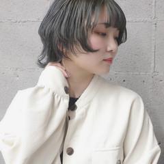 ウルフ ショート ウルフカット ヘアカラー ヘアスタイルや髪型の写真・画像