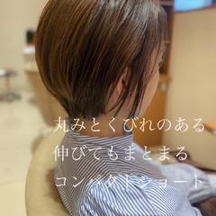 ショート 小顔ショート ショートヘア 丸みショート ヘアスタイルや髪型の写真・画像