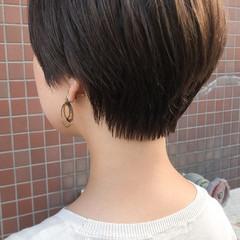 小顔ショート 透明感カラー 小顔ヘア ショート ヘアスタイルや髪型の写真・画像