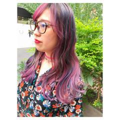 外国人風カラー ダブルカラー グラデーションカラー ストリート ヘアスタイルや髪型の写真・画像