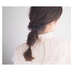 ナチュラル ヘアアレンジ モード 簡単ヘアアレンジ ヘアスタイルや髪型の写真・画像