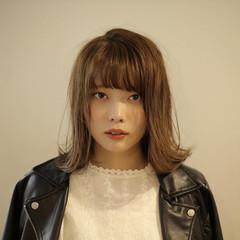 ブリーチなし 透明感カラー ボブ ナチュラル ヘアスタイルや髪型の写真・画像
