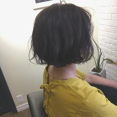 ナチュラル ニュアンス ショート パーマ ヘアスタイルや髪型の写真・画像
