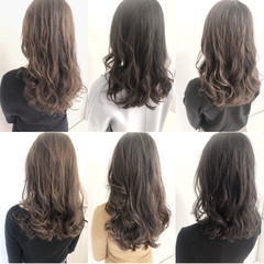 グレージュ ヘアスタイル デジタルパーマ パーマ ヘアスタイルや髪型の写真・画像