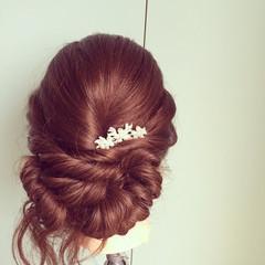 結婚式 ヘアアレンジ パーティ エレガント ヘアスタイルや髪型の写真・画像