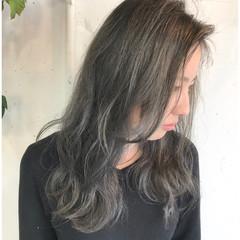 ストリート セミロング デート 女子会 ヘアスタイルや髪型の写真・画像