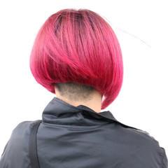 グラデーションカラー モード レッド ボルドー ヘアスタイルや髪型の写真・画像