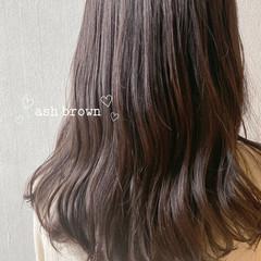 ショコラブラウン アッシュ アッシュグレージュ アッシュベージュ ヘアスタイルや髪型の写真・画像