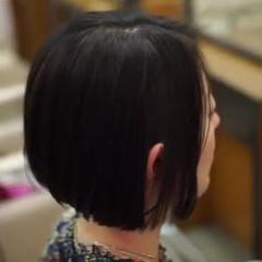 前下がり 大人女子 ショート ショートボブ ヘアスタイルや髪型の写真・画像