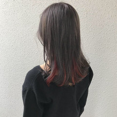 インナーカラー モード ダブルカラー 外国人風カラー ヘアスタイルや髪型の写真・画像