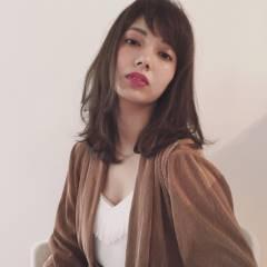 外国人風カラー ストリート 外国人風 セミロング ヘアスタイルや髪型の写真・画像
