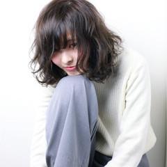 簡単 ボブ レイヤーカット パーマ ヘアスタイルや髪型の写真・画像