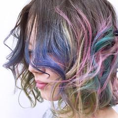 ミディアム ブリーチ ストリート グラデーションカラー ヘアスタイルや髪型の写真・画像