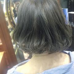 グレージュ ワンレングス 外国人風 外国人風カラー ヘアスタイルや髪型の写真・画像