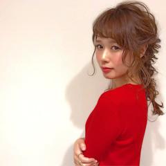 こなれ感 セミロング 簡単ヘアアレンジ 大人女子 ヘアスタイルや髪型の写真・画像
