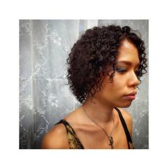 外国人風 ヘアアレンジ ボブ パーマ ヘアスタイルや髪型の写真・画像