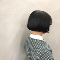 ナチュラル ボブ 内巻き 艶髪 ヘアスタイルや髪型の写真・画像