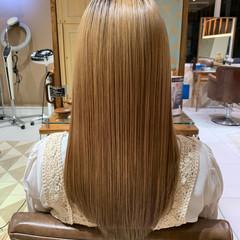 ロング ハイトーン 髪質改善トリートメント ブリーチカラー ヘアスタイルや髪型の写真・画像
