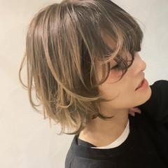 大人ハイライト ママ ママヘア バイヤレージュ ヘアスタイルや髪型の写真・画像