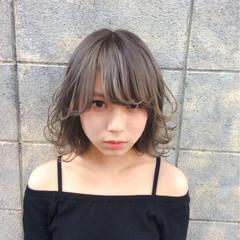 前髪あり グラデーションカラー ハイライト ピュア ヘアスタイルや髪型の写真・画像