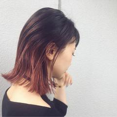 グラデーションカラー ストリート インナーカラー 外国人風 ヘアスタイルや髪型の写真・画像