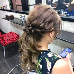 結婚式 ローポニーテール 卒業式 ヘアアレンジ ヘアスタイルや髪型の写真・画像