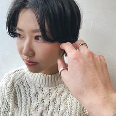 ショート 黒髪ショート 大人ショート モード ヘアスタイルや髪型の写真・画像