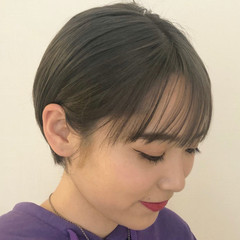 ナチュラル ショートヘア ショート 簡単ヘアアレンジ ヘアスタイルや髪型の写真・画像