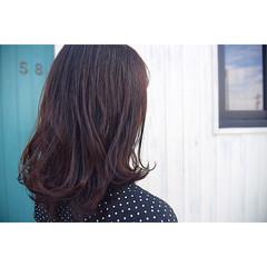 ワンカール 外ハネ セミロング 艶髪 ヘアスタイルや髪型の写真・画像