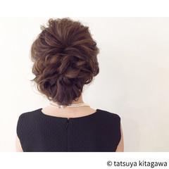 二次会 結婚式 外国人風 ヘアアレンジ ヘアスタイルや髪型の写真・画像