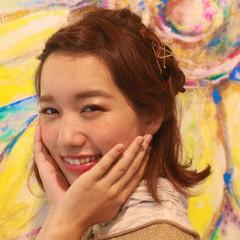 ショート ヘアアレンジ ゆるふわ ガーリー ヘアスタイルや髪型の写真・画像