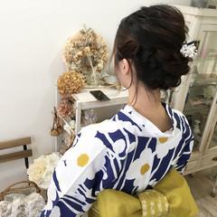 涼しげ 夏 お祭り 和装 ヘアスタイルや髪型の写真・画像