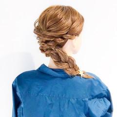 大人女子 フェミニン ロング アウトドア ヘアスタイルや髪型の写真・画像
