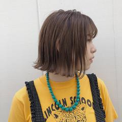 外ハネ 外国人風カラー 抜け感 切りっぱなし ヘアスタイルや髪型の写真・画像