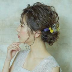 卒業式 結婚式 フェミニン アンニュイほつれヘア ヘアスタイルや髪型の写真・画像