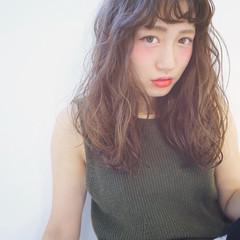 パーマ ミディアム おフェロ ピュア ヘアスタイルや髪型の写真・画像