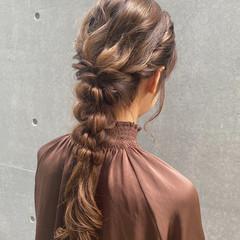 ヘアアレンジ ロング エレガント 結婚式ヘアアレンジ ヘアスタイルや髪型の写真・画像