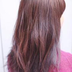 ナチュラル セミロング 3Dハイライト ヘアスタイルや髪型の写真・画像