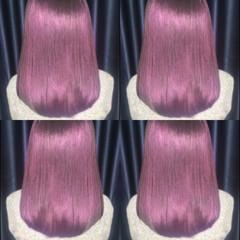 ダブルカラー 原宿系 ボブ ベリーピンク ヘアスタイルや髪型の写真・画像