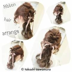 コンサバ 謝恩会 モテ髪 ヘアアレンジ ヘアスタイルや髪型の写真・画像
