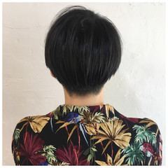 ショート 黒髪 黒髪ショート ハンサムショート ヘアスタイルや髪型の写真・画像