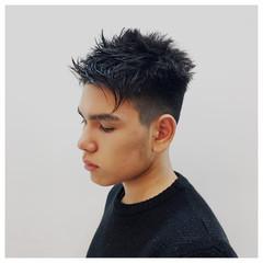 ショート 黒髪 ウェットヘア 刈り上げ ヘアスタイルや髪型の写真・画像